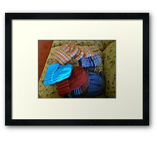 Colourful Hats Framed Print