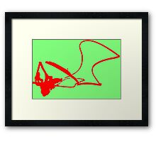 Spontaneous Red Spot Framed Print