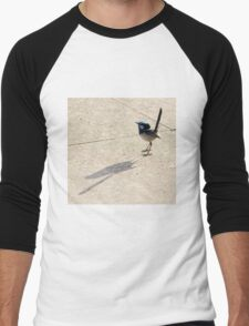 Superb Male Fairy Wren and it's Shadow Men's Baseball ¾ T-Shirt