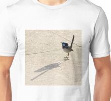 Superb Male Fairy Wren and it's Shadow Unisex T-Shirt