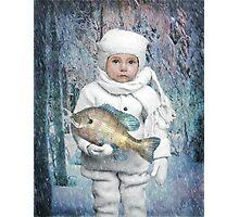 Fish Holder  Photographic Print
