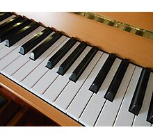 Hands On - Piano Keys Photographic Print