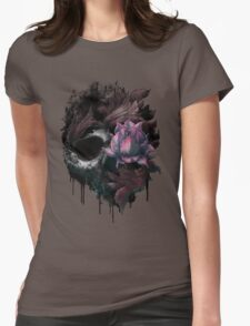 Death Blooms Womens Fitted T-Shirt