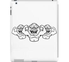 naked ugly disgusting old man grandpa monster troll iPad Case/Skin