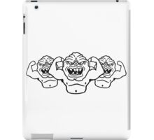 naked ugly disgusting old man grandpa monster troll iPad Case/Skin
