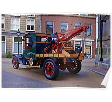 Antique Hardworking  Ford Tow Truck Poster