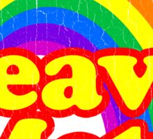 Funny Heavy Metal Rainbow Sticker