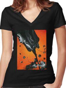 La Rosa Negra Women's Fitted V-Neck T-Shirt