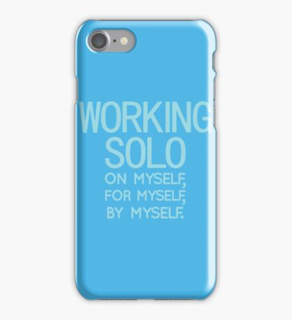 Working Solo iPhone Case/Skin