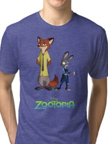 Zootopia --- Judy and Nick Enhanced Tri-blend T-Shirt