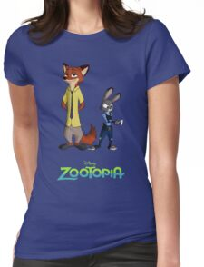 Zootopia --- Judy and Nick Enhanced Womens Fitted T-Shirt