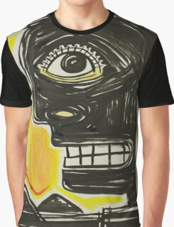 Expressionist face in black Graphic T-Shirt