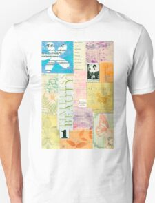 Timeless Beauty - Paper Collage  Unisex T-Shirt
