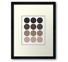 Gray Brown Gradient  Framed Print