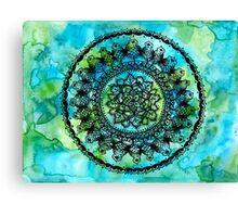 Teal Mandala Canvas Print