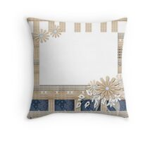 Frame ornament floral Throw Pillow