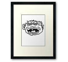 monster wart pimples disgusting decisive cripple evil dangerous horror halloween Framed Print