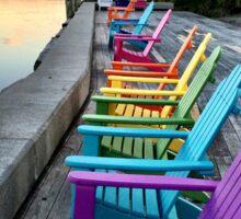 Rainbow chairs Sticker