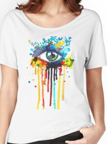 Rainbow Splash Eye Women's Relaxed Fit T-Shirt