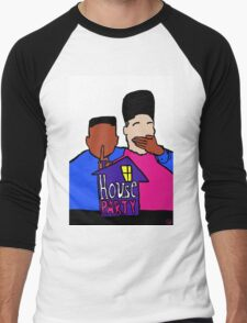 House Party White Men's Baseball ¾ T-Shirt