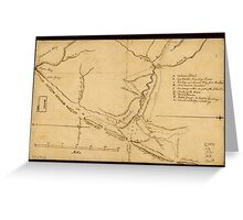 American Revolutionary War Era Maps 1750-1786 591 Map of the coast of New Jersey from Barnegat Inlet to Cape May Greeting Card