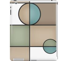 Abstract modern squares and circles seamless pattern texture retro colors background iPad Case/Skin