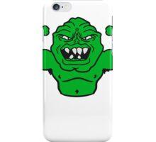 monster bodybuilder muscles strong man Muckis hulk workout ork oger troll funny green iPhone Case/Skin