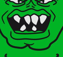 monster bodybuilder muscles strong man Muckis hulk workout ork oger troll funny green Sticker