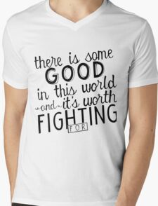 There's good in this world Mens V-Neck T-Shirt