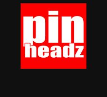 Pinheadz Pinball Classic WHITE on RED LOGO Unisex T-Shirt