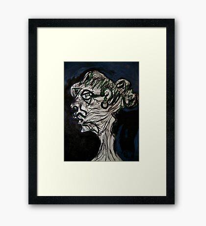 """teach"".... Ms Unforgettable Framed Print"