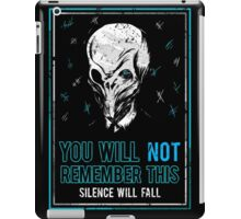 You will not remember this. (Second Version) iPad Case/Skin