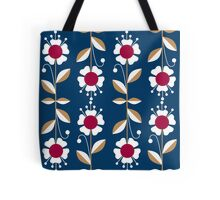 Ornate seamless pattern with the leaves and flowers cute modern Tote Bag