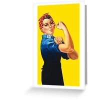 Rosie The Riveter Retro Style design Greeting Card
