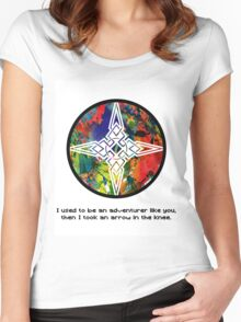 Took an Arrow in the Knee - Dawnstar Version Women's Fitted Scoop T-Shirt