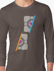 Pixel Companion Cube Long Sleeve T-Shirt