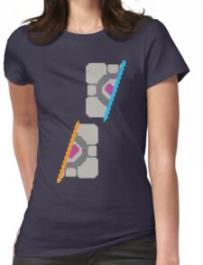 Pixel Companion Cube Womens Fitted T-Shirt