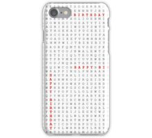 Happy Birthday Word Search Puzzle iPhone Case/Skin