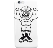 funny small ugly disgusting old man grandpa monster troll gnome ork oger iPhone Case/Skin