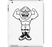 funny small ugly disgusting old man grandpa monster troll gnome ork oger iPad Case/Skin