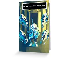 Sans Greeting Card