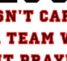 Jesus: Not a Sports Fan Sticker