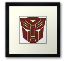 Transformers autobot Framed Print