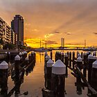 Docklands Sunset by susanzentay