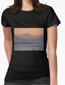 The Sunset Surfer Womens Fitted T-Shirt