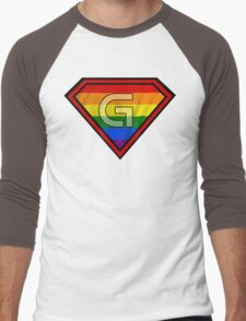 SUPER GAY HERO Men's Baseball ¾ T-Shirt