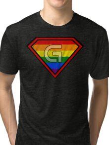 SUPER GAY HERO Tri-blend T-Shirt