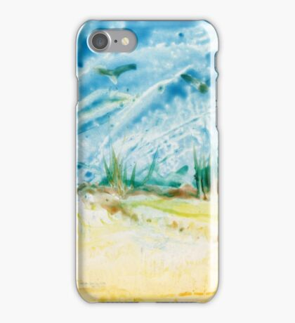 Atop the Dunes Encaustic Painting  iPhone Case/Skin