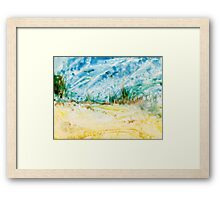 Atop the Dunes Encaustic Painting  Framed Print