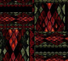 Patchwork seamless snake skin pattern Sticker